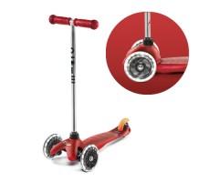 фото вид спереди и переднее колесо Детский самокат MINI MICRO Classic LED Red