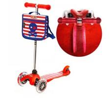 фото Детский самокат MINI MICRO Classic с сумочкой Red