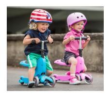 фото детей на детских самокатах MINI MICRO MINI2GO Classic Pink