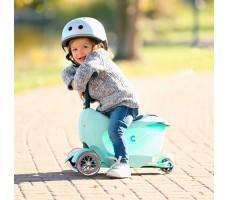 фото ребенка на детском самокате MINI MICRO MINI2GO DELUXE Mint