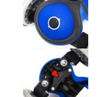 фото колес и руля самоката Globber My Free Up Titanium Blue