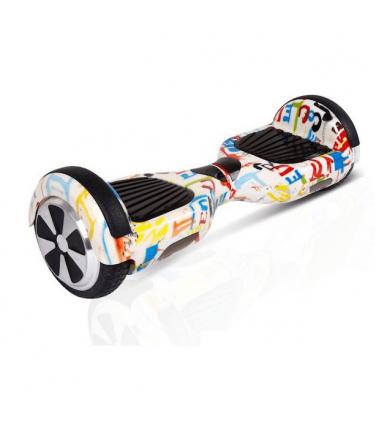 Гироскутер Smart Balance Wheel 6.5 Граффити белый | Купить, цена, отзывы