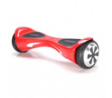 Гироскутер Smart Balance Wheel Diamond Red полубоком левое колесо ближе правого