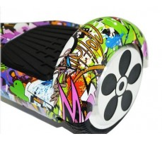 Гироскутер Smart Balance 6.5 Граффити фиолетовый вид спереди сбоку на диск