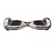 Гироскутер Smart Balance серебряный вид спереди сверху