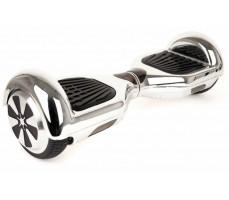 Гироскутер Smart Balance серебряный вид спереди справа
