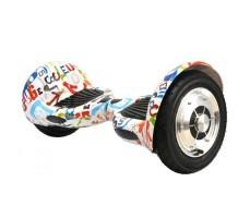 Фото гироскутера Гироскутер Smart Balance Wheel Suv 10 Graffity White вид сбоку спереди слева