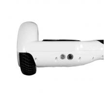 Гироскутер Smart Balance Белый вид сзади правая часть кнопка включения и разъев зарядки