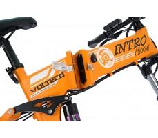 Фото скрытого аккумулятора электровелосипеда Volteco Intro Orange