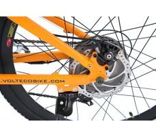 Фото дискового тормоза электровелосипеда Volteco Intro Orange