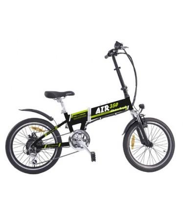 Электровелосипед Wellness Air 350 черно-зеленый | Купить, цена, отзывы