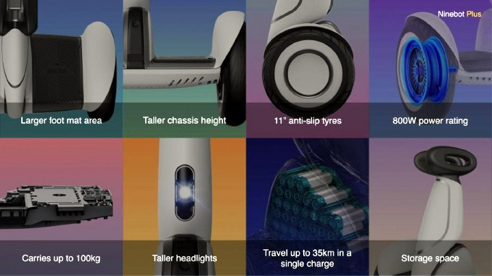 технические характеристики сигвея ninebot mini plus