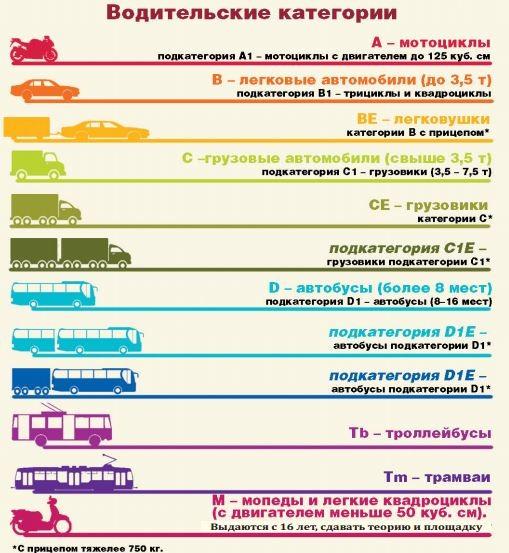 Категории прав для электротранспорта (электроквадроциклы и другие)