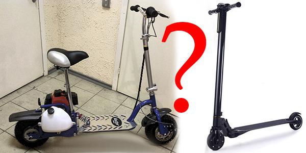 Что выбрать: электросамокат или самокат с мотором ДВС