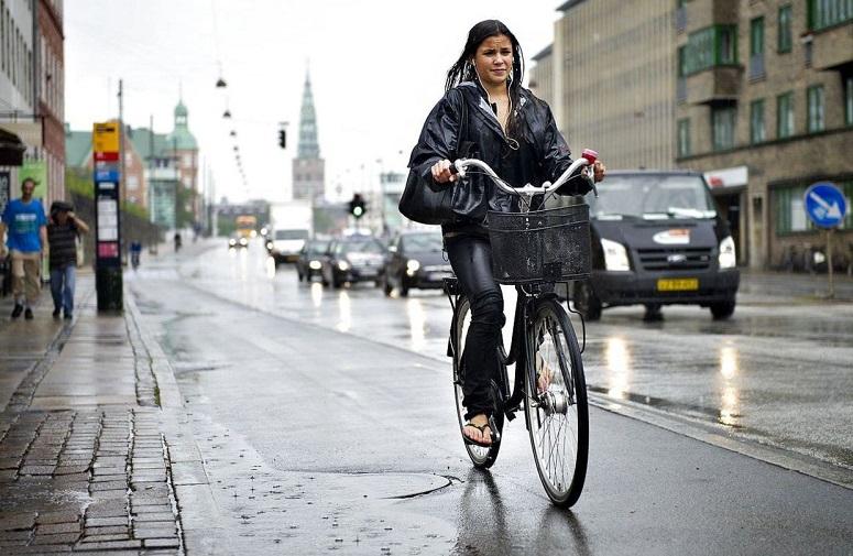 Велосипед под дождём