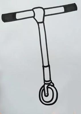 Шаг 2: Самокат в объемной плоскости
