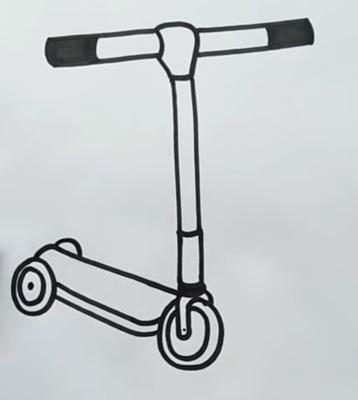 Шаг 3: Самокат в объемной плоскости