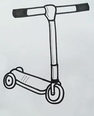 Шаг 4: Самокат в объемной плоскости