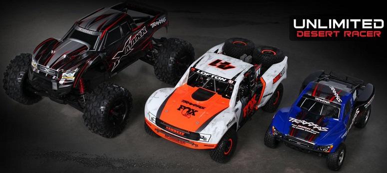 Unlimited Desert Racer в сравнении с X-Maxx и Slash